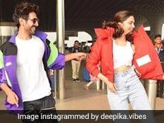 दीपिका पादुकोण ने की रिक्वेस्ट, तो एयरपोर्ट पर ही डांस सिखाने लगे कार्तिक आर्यन, देखें Video