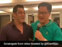 केंद्रीय मंत्री किरेन रिजिजू ने सलमान खान के साथ गाया गाना, बोले- 'भाई को हैप्पी बर्थडे...' देखें Video