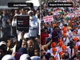 Video : Protests For And Against Citizenship Act Just 4 km Apart In Mumbai