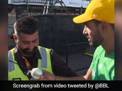Watch: Pakistan Bowlers Heartwarming Gesture For Indian Security Guard