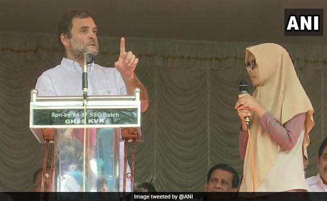 Watch: When A Class 12 Kerala Girl Translated Rahul Gandhi's Speech