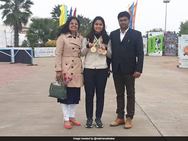 National Shooting Championship: தங்கப் பதக்கங்களை வென்றார் மனு பாக்கர்!