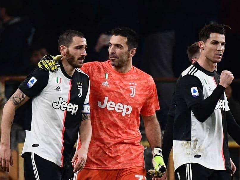 Flying Cristiano Ronaldo Fires Juventus Top As Gianluigi Buffon Equals Paolo Maldinis Serie A Record