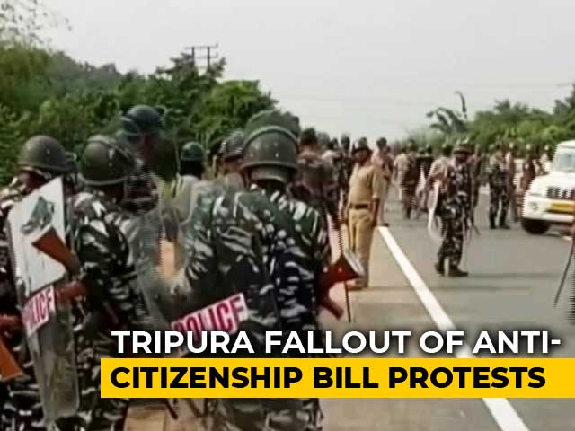 Video : Tripura Blocks Mobile Data, SMS Services Amid Citizenship Bill Agitation