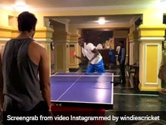 India Vs West Indies Not On A Cricket Field But In Table Tennis