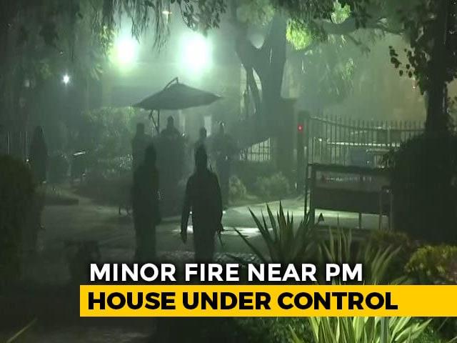 Video : Minor Fire Near PM Modi's Residence In Delhi Brought Under Control