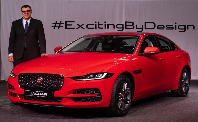 Rohit Suri, President & MD, Jaguar Land Rover India with the new Jaguar XE Facelift.