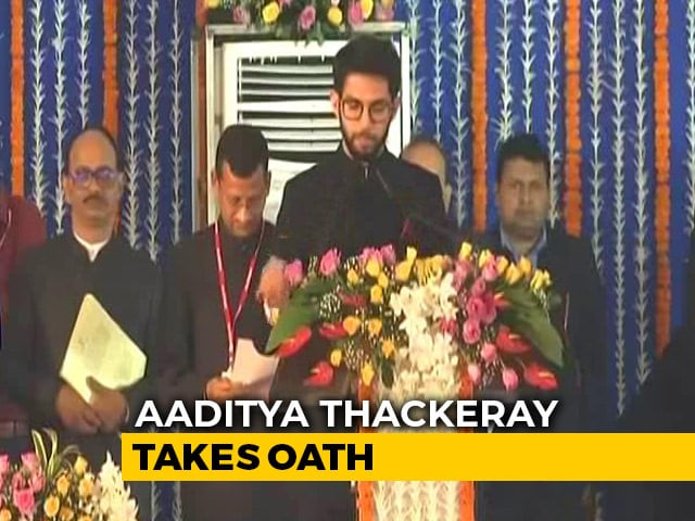 Video : Aaditya Thackeray, 35 Others Take Oath In Maharashtra