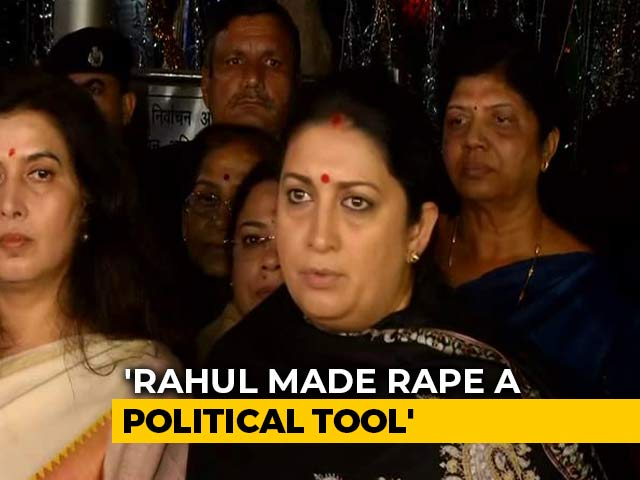 "Video : BJP Complains To Poll Body Against Rahul Gandhi's ""Rape In India"" Remark"