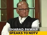 Video : Sharad Pawar Tells NDTV, Easier To Work With Shiv Sena Than BJP. His Reason