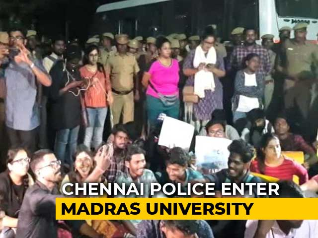 Video : Police Enter Madras University As Students Protest Over Citizenship Act