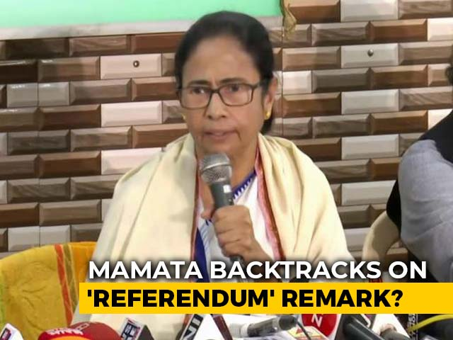 Video: 'Meant Opinion Poll': Mamata Banerjee Backtracks On 'Referendum' Remark