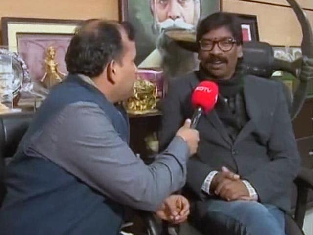 "Video : ""We Framed A Strategy To Stop BJP From Winning"": Hemant Soren"