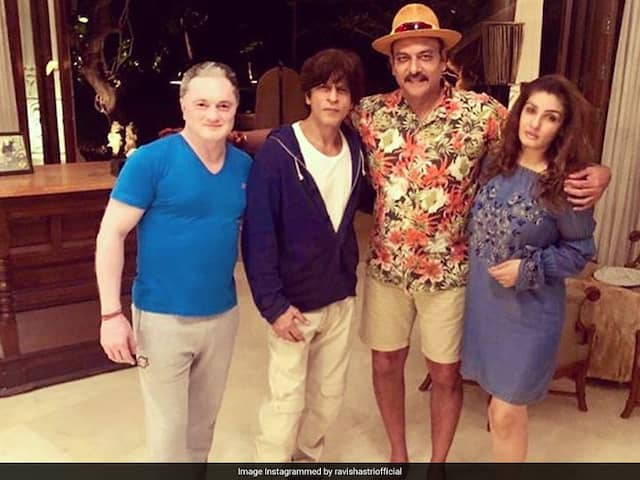 Michael Vaughan Comments On Ravi Shastris Picture With Shah Rukh Khan, Raveena Tandon
