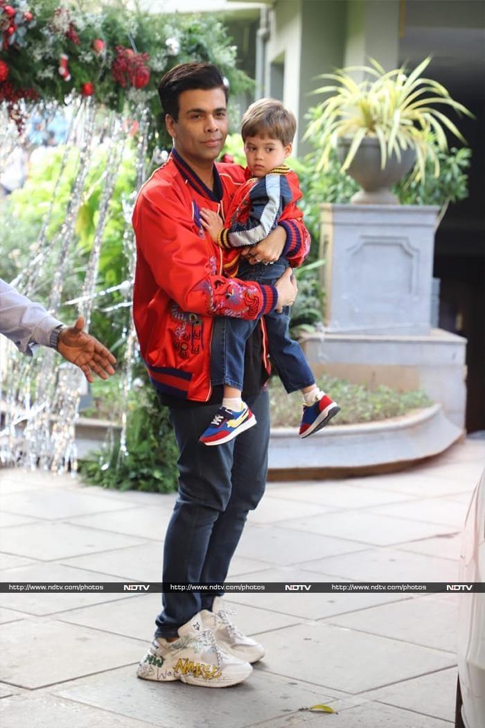 Karan Johar and child