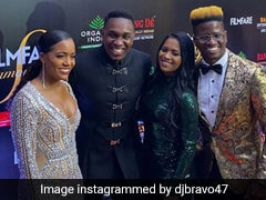 "Dwayne Bravo Attends Filmfare Glamour And Style Awards 2019 With ""Champion Team"""
