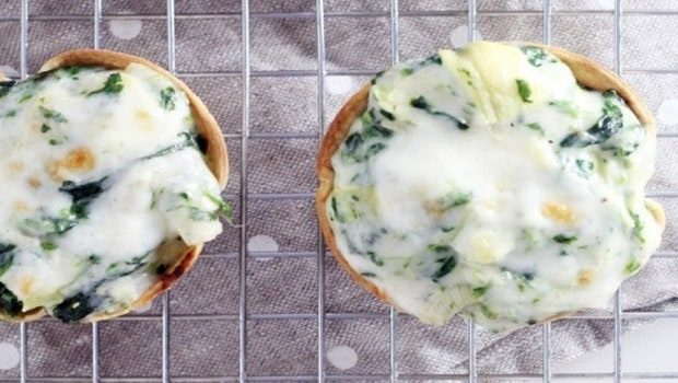 Spinach Tortilla Cups