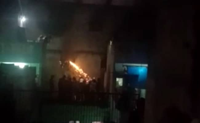 Rescuers Seen In Video Cutting Through Wall Of Burning Building In Delhi