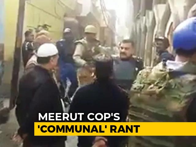 """Video : On Video, UP Cop's Communal Rant; His Senior Says He """"Showed Restraint"""""""