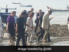 Swedish Royal Couple Help Clean Up Versova Beach In Mumbai