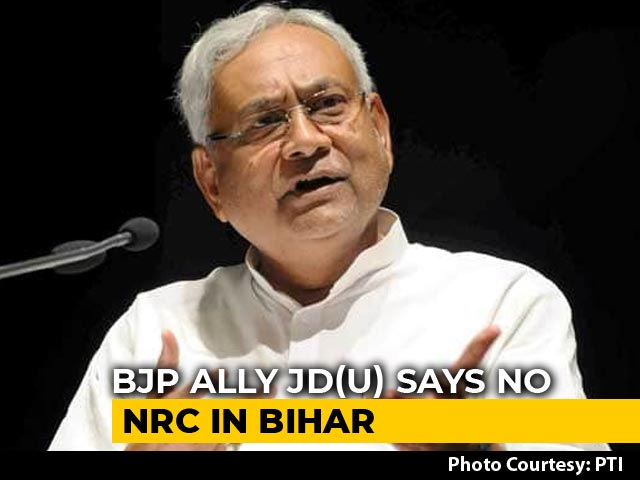 "Video : ""What NRC?"" Nitish Kumar's Big Hint That Another BJP Ally Differs"