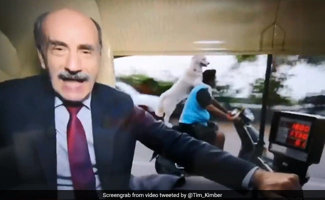 Only In India? Dog On Bike Steals Limelight From BBC Presenter