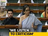 "Video : ""Told I'm Worst Finance Minister"": Nirmala Sitharaman Rebuffs Criticism"