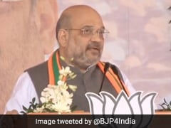 "Amit Shah's ""Stomach Ache"" Jibe At Congress Amid Protests In Northeast"