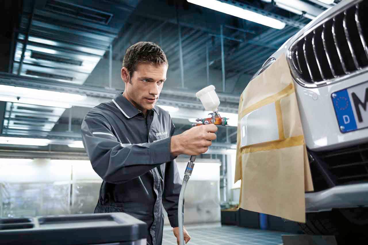 BMW Smart Repair includes body and paint related jobs including plastic parts, dents and more
