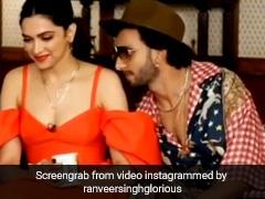 रणवीर सिंह ने दीपिका पादुकोण को इंटरव्यू के बीच में किया किस, तो होस्ट बोलीं- ये सब मत करो...देखें Video