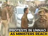 Video : Protests In Unnao Village As Ministers Visit Family Of Woman Set On Fire