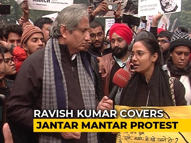 Video : Ravish Kumar's Ground Report On Citizenship Act Protests At Jantar Mantar