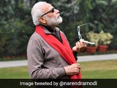 पीएम नरेंद्र मोदी ने चश्मा लगाकर देखा Surya Grahan, बोले- 'सूरज बादल में छिप गया था...'