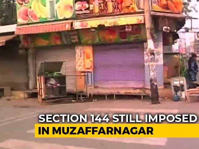 "Video : Days After Yogi Adityanath's ""Revenge"" Remark, Shops Sealed Over Violence"