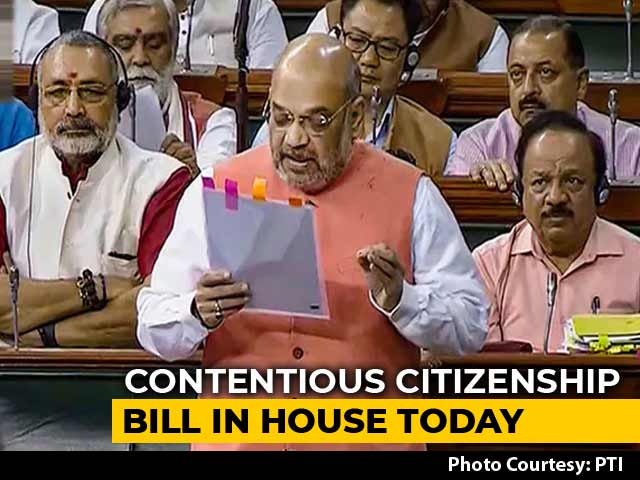 Video : Citizenship Bill To Be Tabled In Lok Sabha Today Amid Northeast Protests