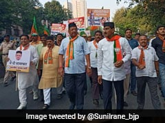 BJP Protests In Mumbai Against Rahul Gandhi's Savarkar Remark