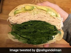Too Much Or Sufficient? The Amount of Spinach In This Sandwich Has Left Internet Puzzled