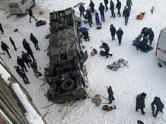 Children Among 19 Killed As Bus Falls Into Frozen River In Russia