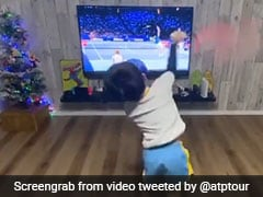 Watch: Young Kid Imitates Roger Federer, Fans Pour In Love