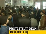 Video : 8 Minors Among 40 Detained, Protests Outside Delhi Police Headquarters