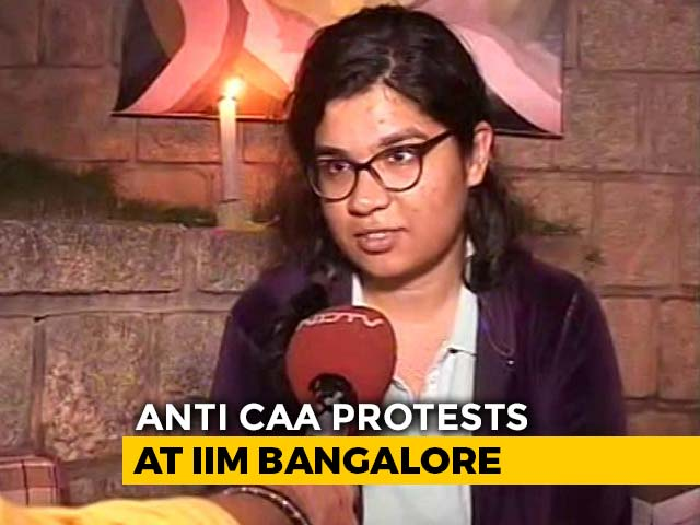Video : IIM Bangalore Students, Faculty Protest Against Citizenship Law, NRC