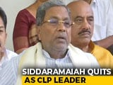 Video : Congress's Siddaramaiah Quits As Legislative Party Leader After Karnataka Bypoll Defeat