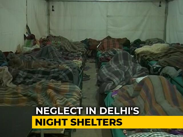 Video : Watch: Delhi Shelter Home's Plight During Bone Chilling Winter