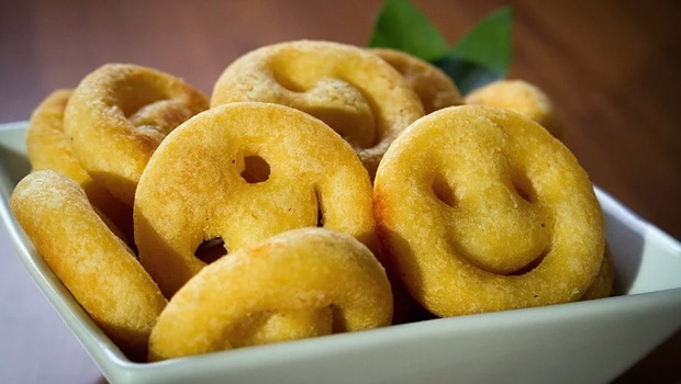 try this kids favorite potato smiley for tea time snack recipe video inside