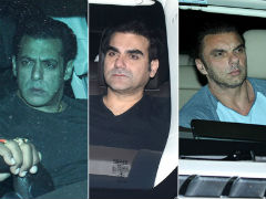 <I>Dabangg 3</I>: Salman Khan's Brothers Arbaaz And Sohail Watch Chulbul Pandey's Film
