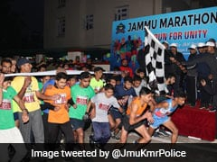 """J&K Police Hold """"Run For Unity"""" In Jammu To Spread Message Of Peace"""