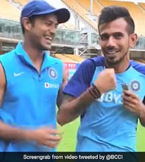 'Just Come From The Gym': Chahal Trolls Mayank For 'Showing Off' Biceps
