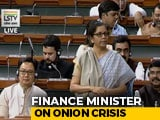 "Video : ""I Don't Eat A Lot Of Onion,"" Says Nirmala Sitharaman In Parliament"