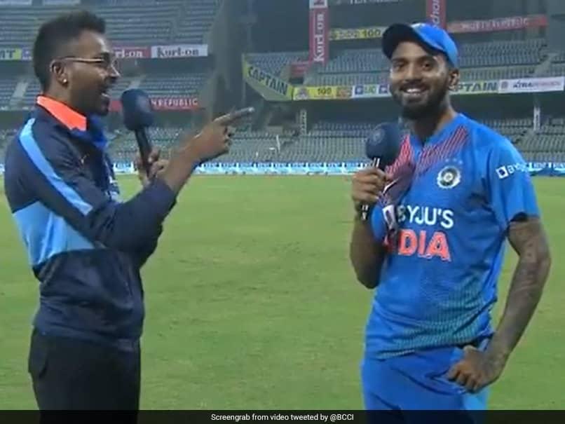India vs West Indies: Hardik Pandya Interviews KL Rahul After Indias T20I Series Win In Mumbai. Watch Video