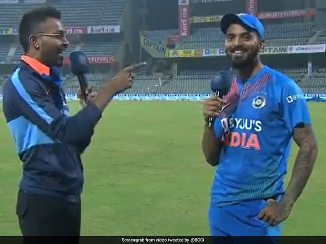 India vs West Indies: Hardik Pandya Interviews KL Rahul After Indias T20I Series Win In Mumbai. Watch Video